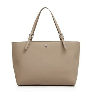 Tory Burch York Buckle Tote French Grey